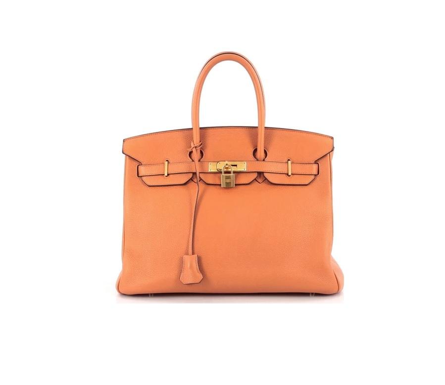 Hermes Handbag Birkin Clemence 35 Orange