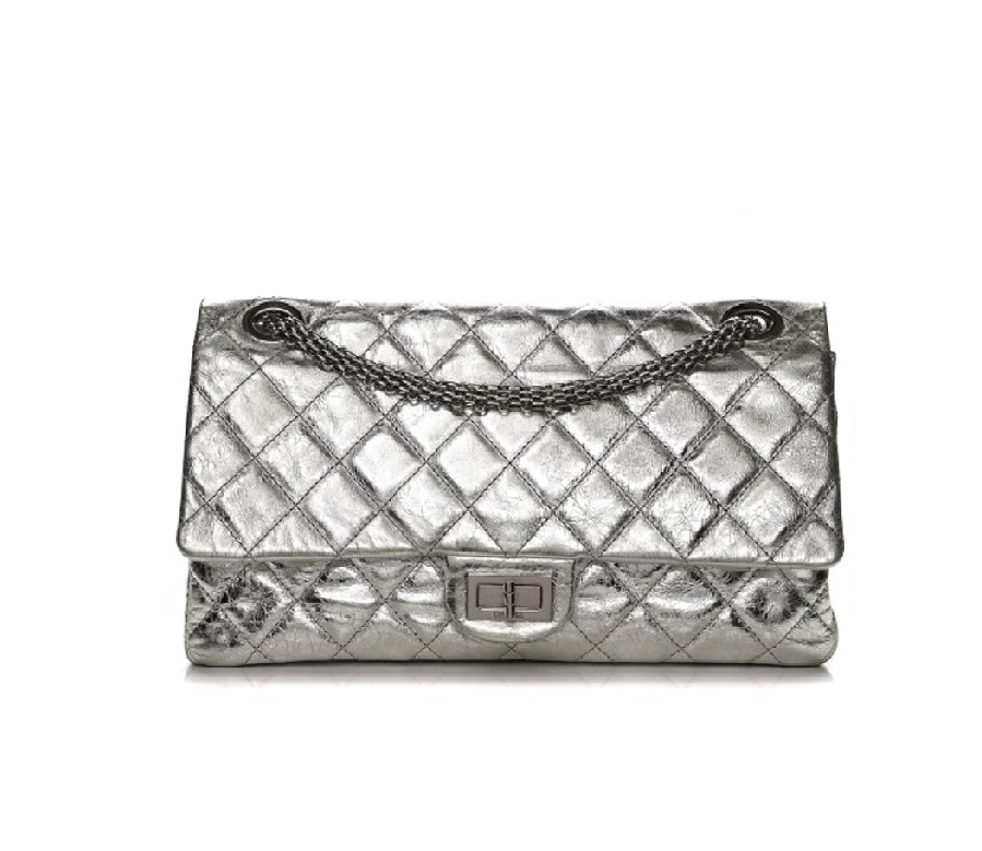 3438f9c19c0b Chanel Reissue 2.55 Flap Quilted Diamond Metallic 228 Silver