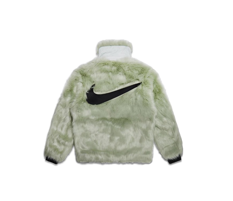 ea4207020125 Nike x Ambush Women's Reversible Faux Fur Coat Jade Horizon/Black / 나이키 앰부쉬  퍼 자켓 그린