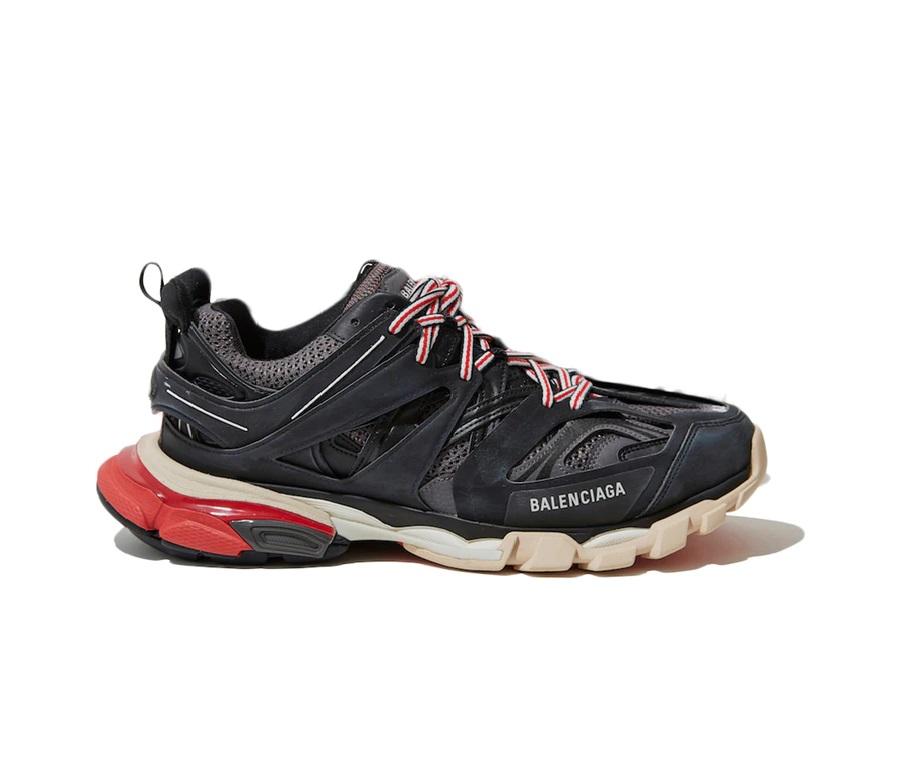 발렌시아가 트랙슈즈 블랙 그레이 레드 / Balenciaga Track Black Grey Red