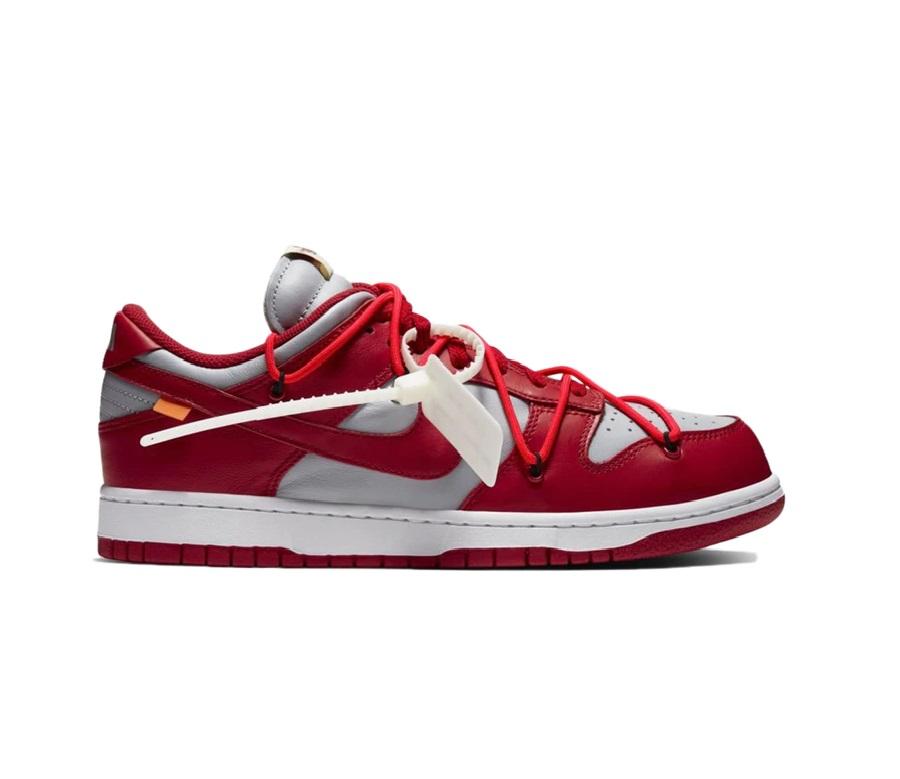 나이키 덩크 로우 X 오프화이트 레드 / Nike Dunk Low Off-White University Red