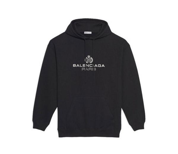발렌시아가 PARIS 로고 후드 블랙 / Balenciaga Paris Laurel Hooded Black