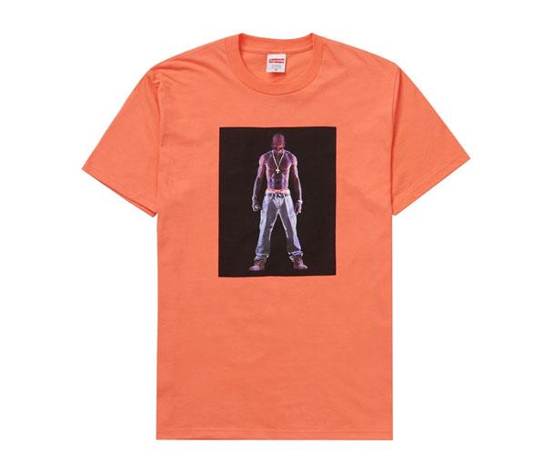 슈프림 투팍 홀로그램 반팔티 오렌지 / Supreme Tupac Hologram Tee Neon Orange