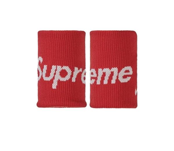 슈프림 나이키 NBA 손목밴드 레드 / Supreme Nike NBA Wristbands (Pack Of 2) Red