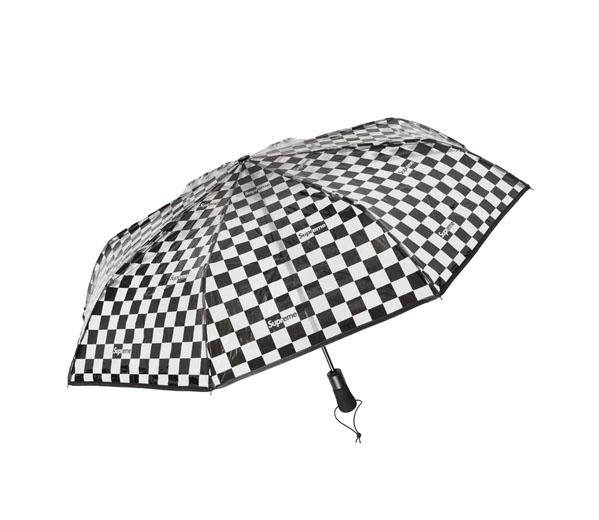 슈프림 쉐드레인 투명 체커보더 우산 / Supreme ShedRain Transparent Checkerboard Umbrella Black