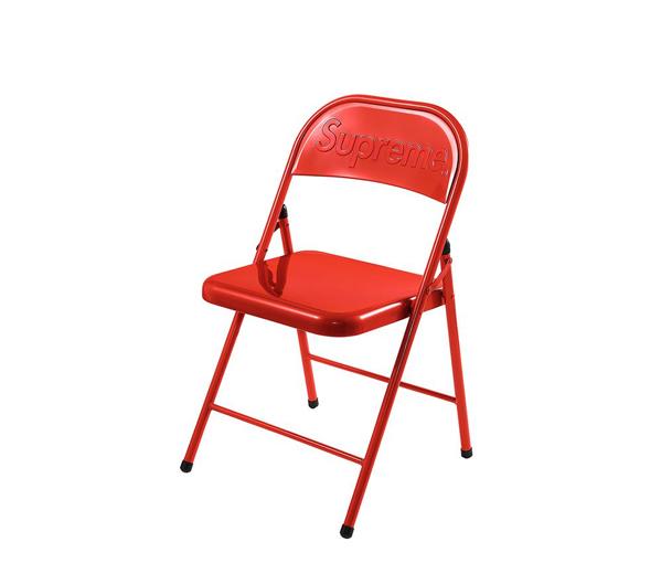 슈프림 메탈 폴딩 체어 레드 / Supreme Metal Folding Chair Red