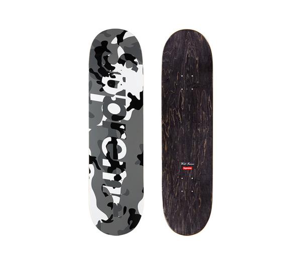 슈프림 카모 로고 스케이트보드 스노우 카모 / Supreme Camo Logo Skateboard Snow Camo