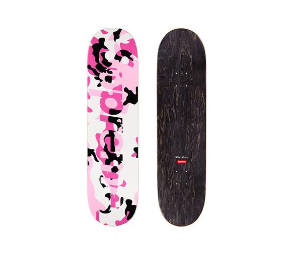 슈프림 카모 로고 스케이트보드 핑크 카모 / Supreme Camo Logo Skateboard Pink Camo