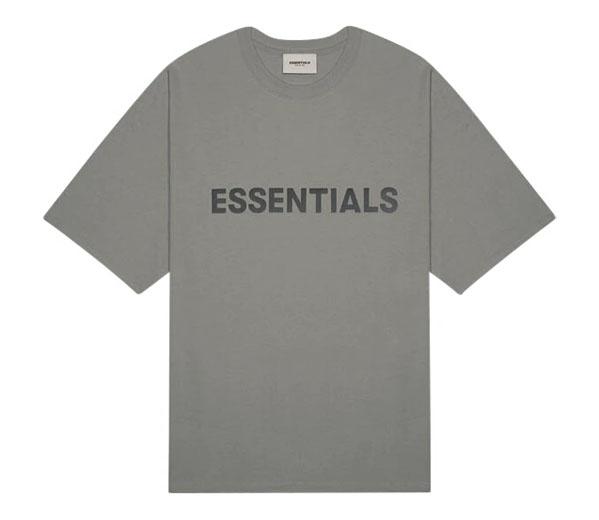 피어오브갓 에센셜 박시 티셔츠 차콜 / FEAR OF GOD ESSENTIALS Boxy T-Shirt Gray Flannel Charcoal