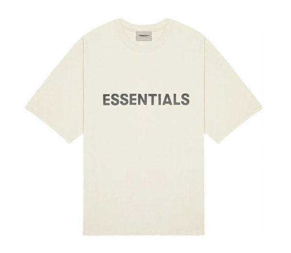 피어오브갓 에센셜 박시 티셔츠 버터 크림 / FEAR OF GOD ESSENTIALS Boxy T-Shirt Buttercream