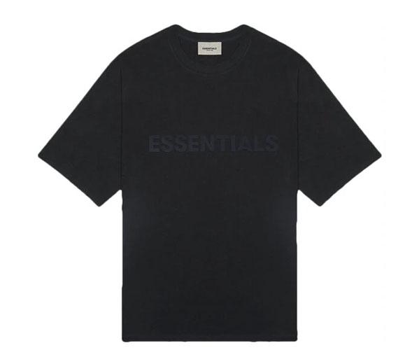 피어오브갓 에센셜 박시 티셔츠 블랙 / FEAR OF GOD ESSENTIALS Boxy T-Shirt Black