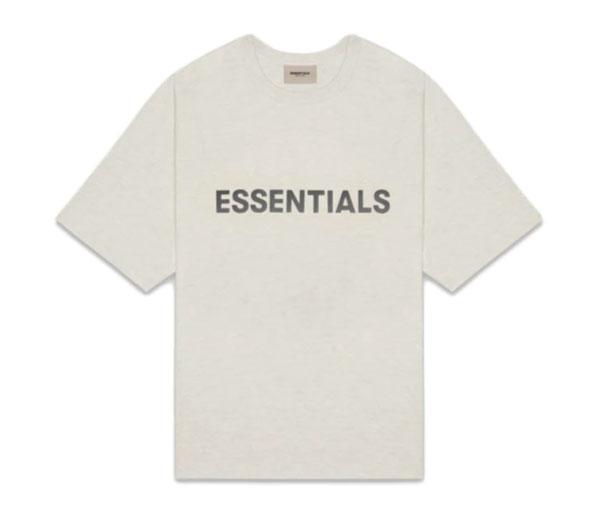 피어오브갓 에센셜 박시 티셔츠 오트밀 헤더 / FEAR OF GOD ESSENTIALS Boxy T-Shirt Oatmeal Heather
