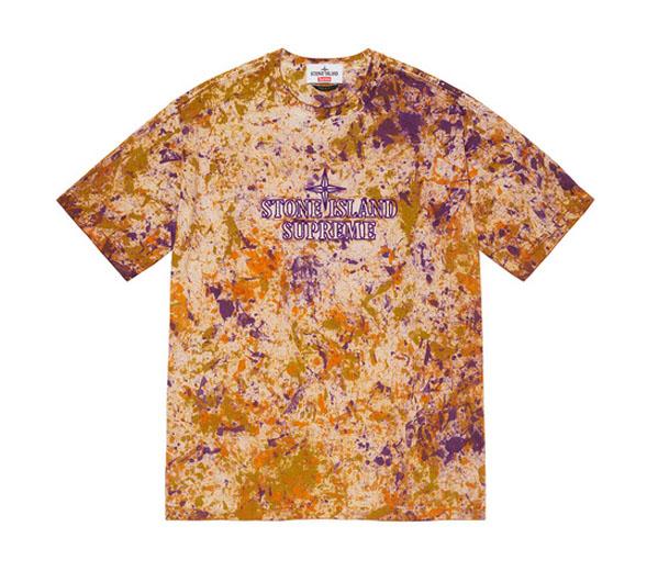 슈프림 X 스톤 아일랜드 임브로이드 로고 반팔 티 코랄 / Supreme X Stone Island Embroidered Logo S/S Top Coral