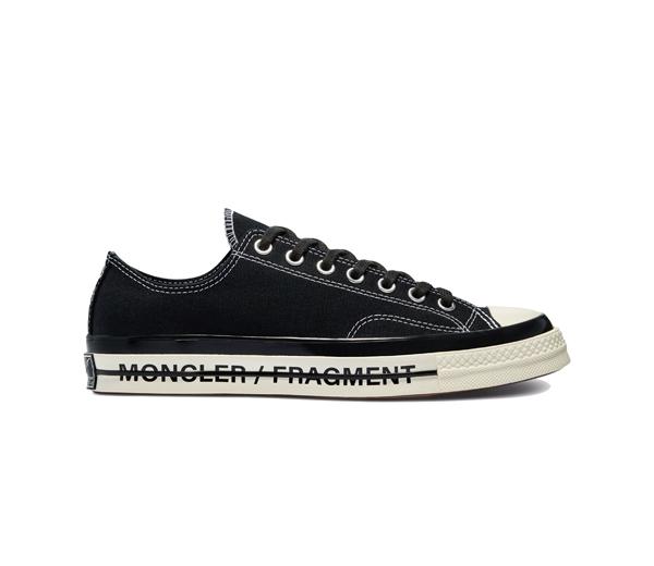 컨버스 X 몽클레르 X 프라그먼트 척 70 로우 프레일러 3 블랙 / Converse X Moncler X Fragment Chuck 70 Ox Fraylor III Black