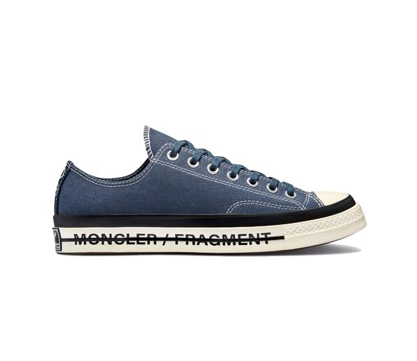 컨버스 X 몽클레르 X 프라그먼트 척 70 로우 프레일러 3 인시그니아 블루 / Converse X Moncler X Fragment Chuck 70 Ox Fraylor III Insignia Blue