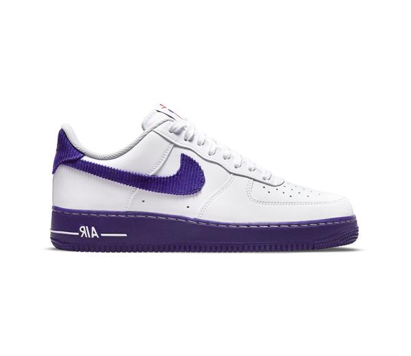 나이키 에어 포스 1 '07 LV8 EMB 화이트 앤 코트 퍼플 / Nike Air Force 1 '07 LV8 EMB White and Court Purple